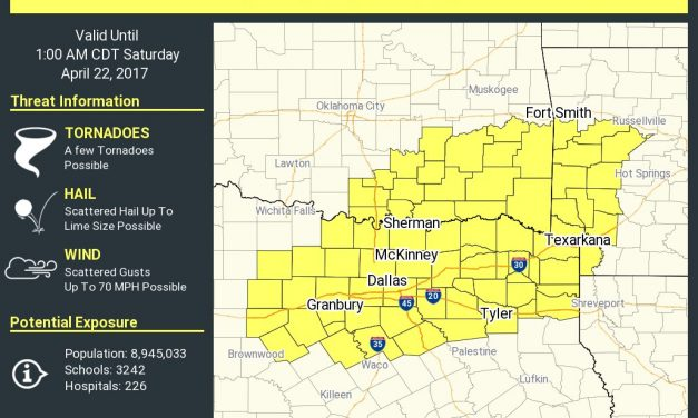 Tornado Watch until 1AM for Texoma, North Texas, and Northeast Texas
