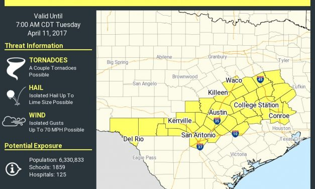 New Severe Thunderstorm Watch Issued through 7AM Tuesday