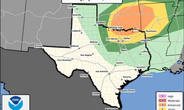 North TX – Slight to Enhanced Risk of Severe Weather Friday Evening/Overnight