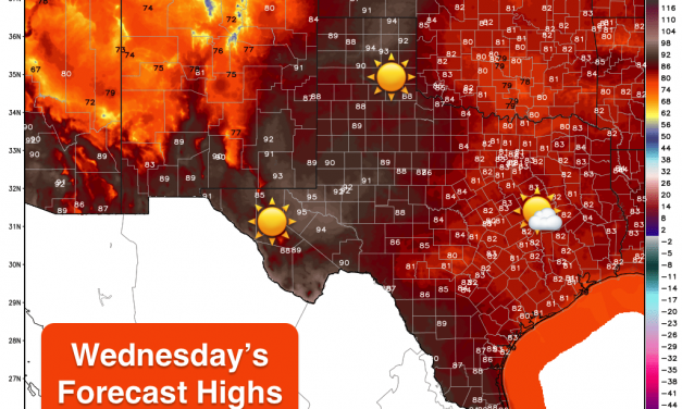 Warm and Calm Weather Through Wednesday – Strong Cold Front Arrives Late Friday/Early Satuday