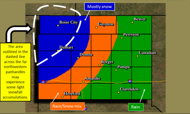Snow Possible Tomorrow in the northwestern Texas Panhandle