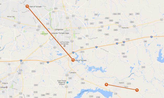 Two Tornadoes Confirmed from May 28, 2017 Storms in East Texas