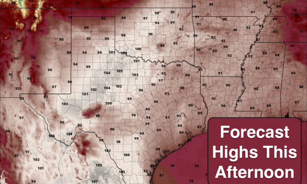 HOT Today – Chances for Storms Late This Afternoon and Overnight