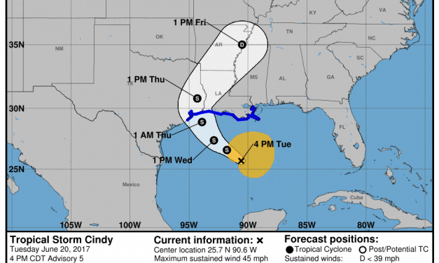 4PM Tuesday Update & Detailed Look at Cindy's Impacts to Texas