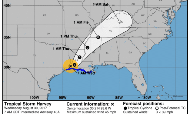 Wednesday Morning Update – TS Harvey Makes 2nd Landfall East of Cameron Louisiana – Catastrophic Flooding Continues in Beaumont/Port Arthur