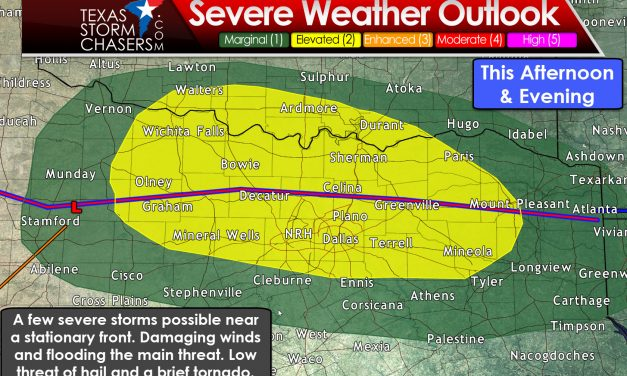 Dual Threat of Severe Storms and Flooding in North/Northeast Texas Today/Tonight