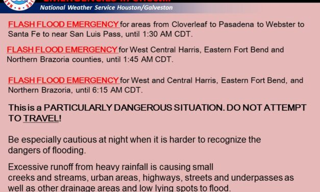 8/27 1245AM: Historic Flash Flood Emergency Underway across Houston Metro