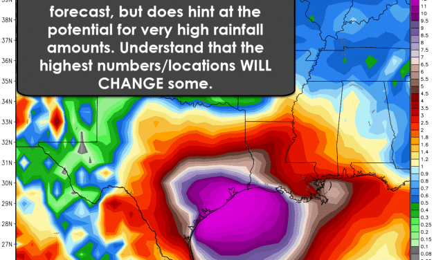 Catastrophic Flooding from Harvey in South-Central/Southeast Texas This Weekend