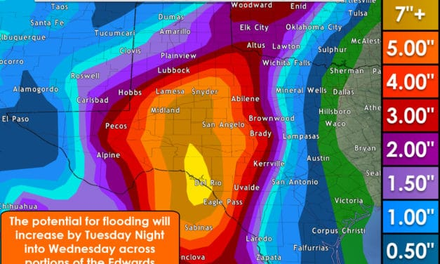 Several Rounds of Rain This Week for Western 1/2 of Texas