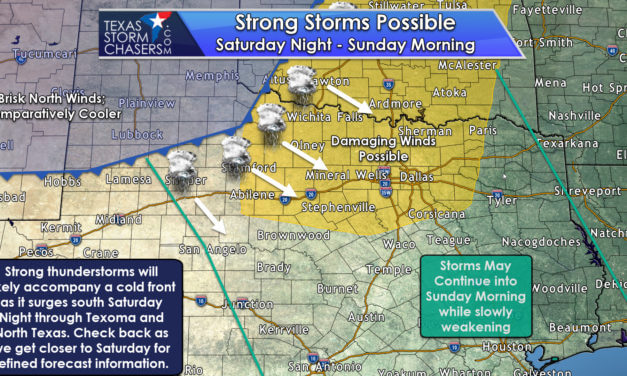 Another Cold Front Saturday Night; Squall Line with Damaging Winds Possible