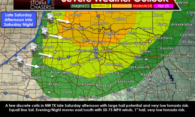 Now an 'Enhanced' Level 3 Severe Storm Risk for Texoma on Saturday Evening