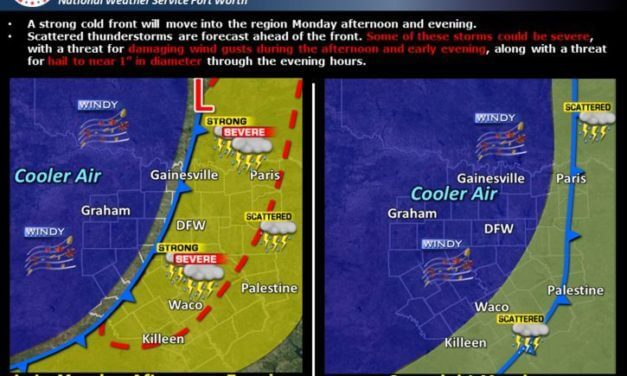 Strong Cold Front Arrives Monday!