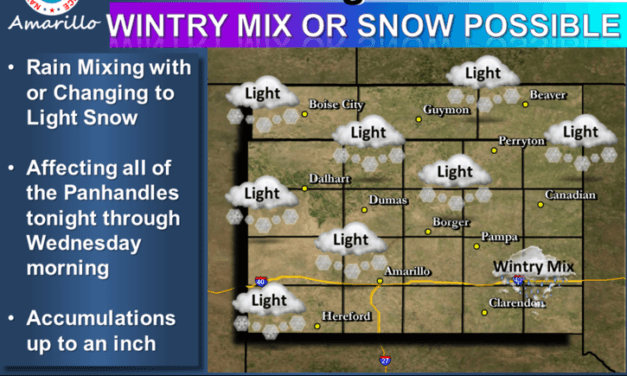 Rain & Snow Mix for the Panhandle Overnight