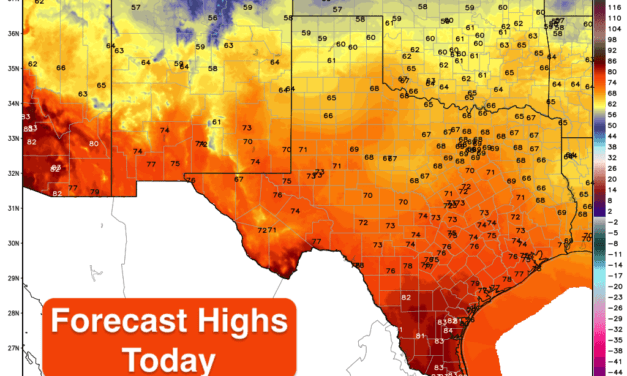 Cold Front Arrives Today – Elevated Wildfire Risk for Western Texas