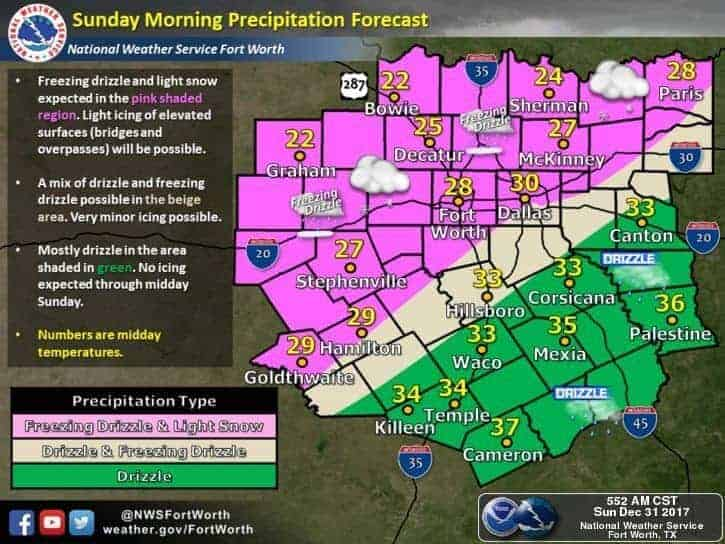 9:30am Update – Reports of Icy Patches Increasing Across North Texas/DFW Area – Drive with CAUTION!