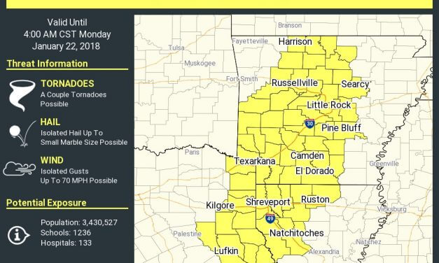 New Tornado Watch for Northeast/East Texas 'till 4 AM; A Detailed Overnight Forecast Update