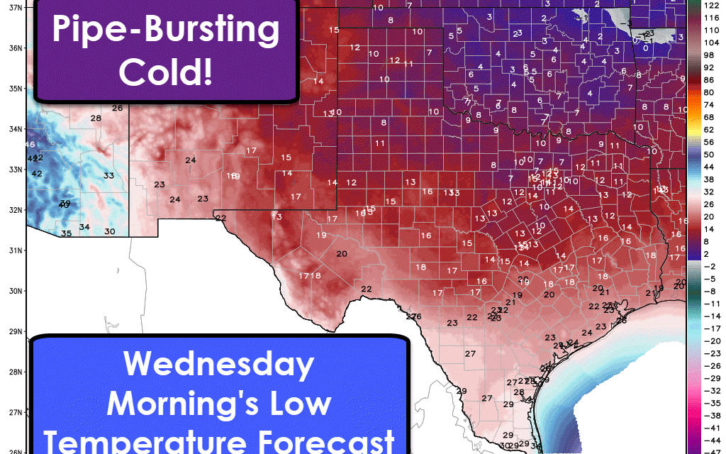 Conditions Deteriorating in South/Southeast Texas; Hard Freeze across Texas Tonight