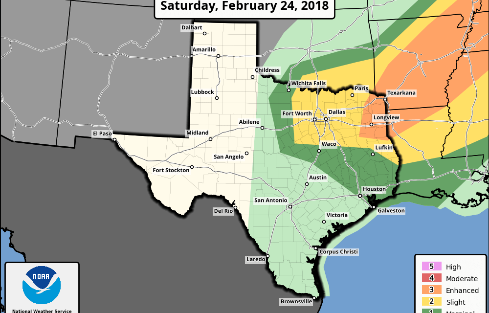 Saturday's Severe Weather Threats Across North Central and Northeast Texas