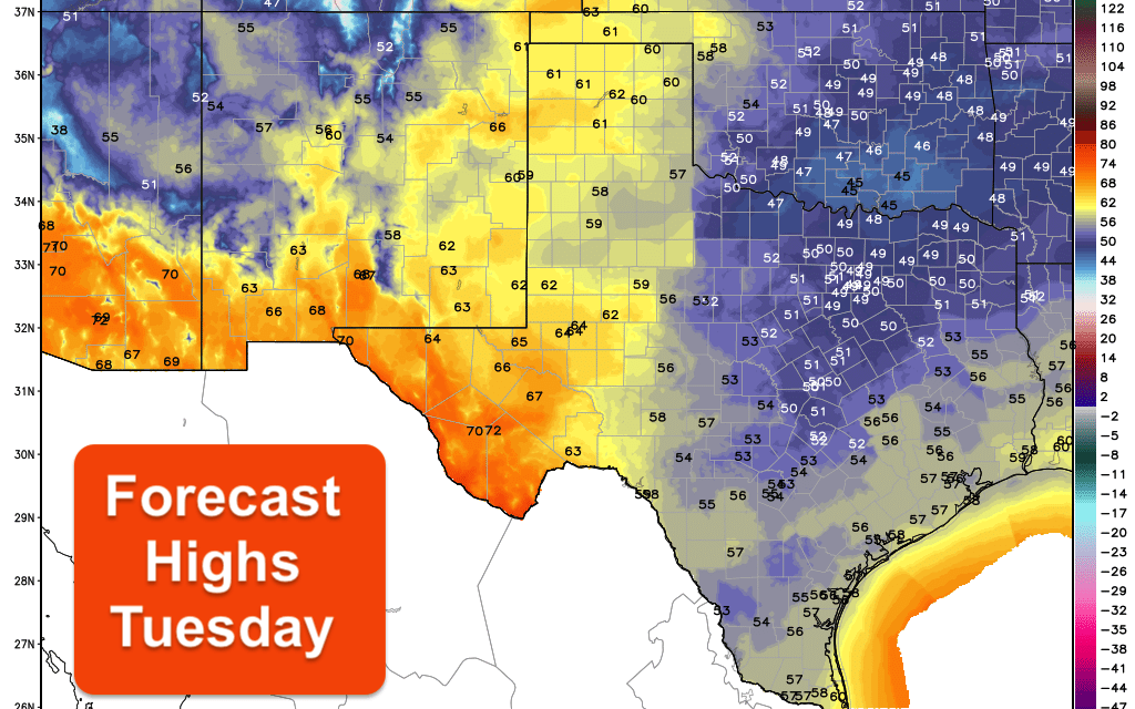Work Week Outlook – Rain Chances Return Tuesday & Wednesday – Cold Front Arrives Friday
