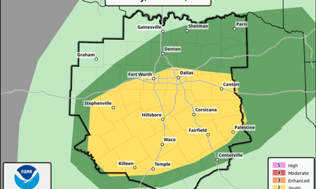 Parts of North Texas Upgraded to Level 2 Severe Risk for this Afternoon