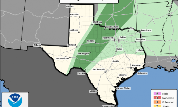 Marginal Risk (Level 1) for Isolated Strong To Severe Storm Development This Afternoon & Evening