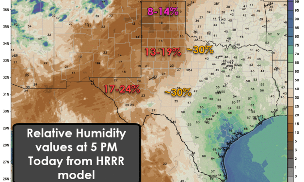 High-End Wildfire Danger in the Panhandle & West Texas Today & Friday