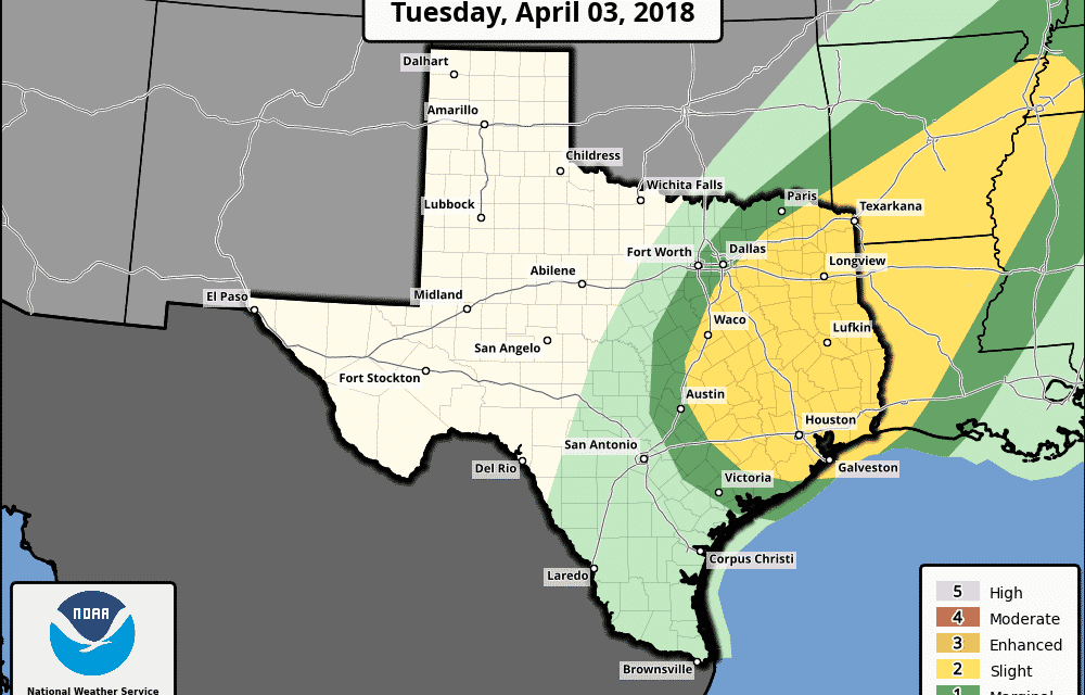 Severe Weather Chances Return on Tuesday