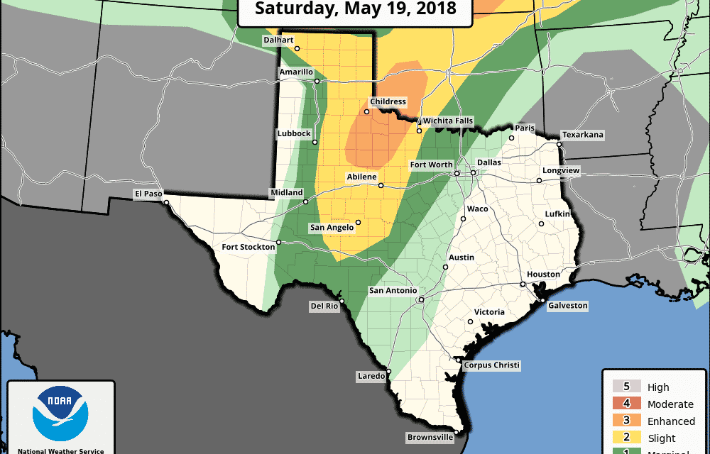 Enhanced Risk (Level 3) for Severe Thunderstorms This Afternoon & Evening