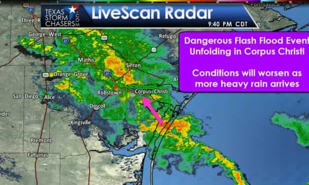 Dangerous Flood Threat Unfolding in Corpus Christi