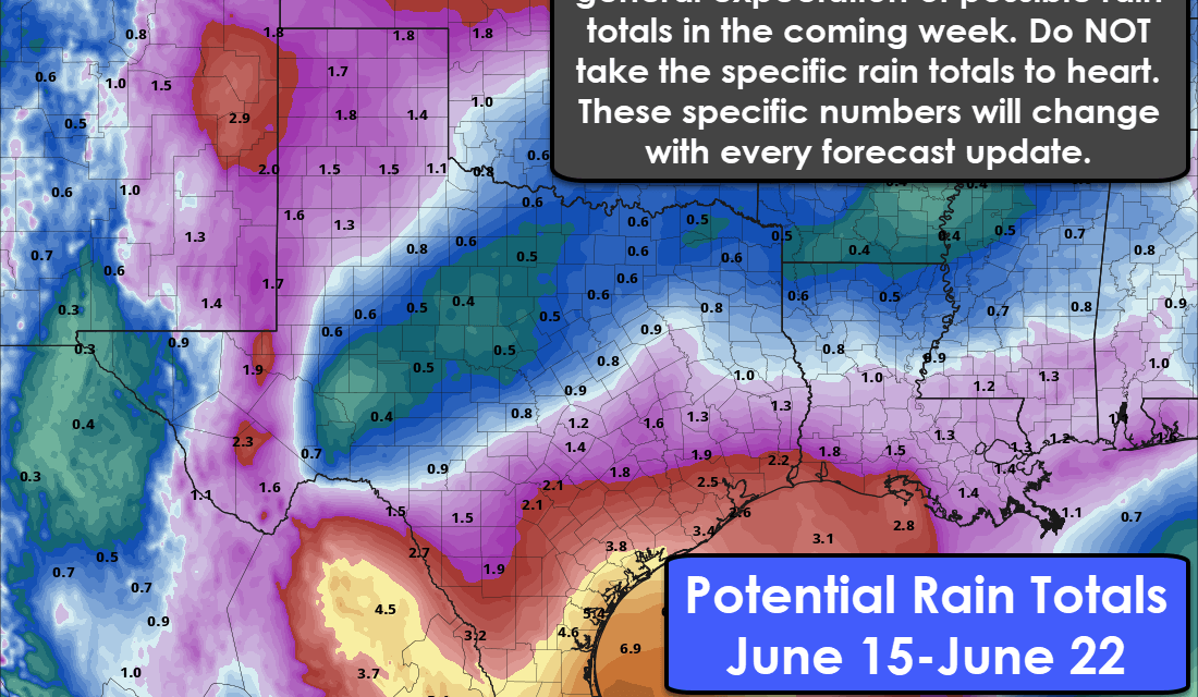 It's Gonna Rain! Good News for Drought-Ridden Texas; Not so much for Outdoor Plans