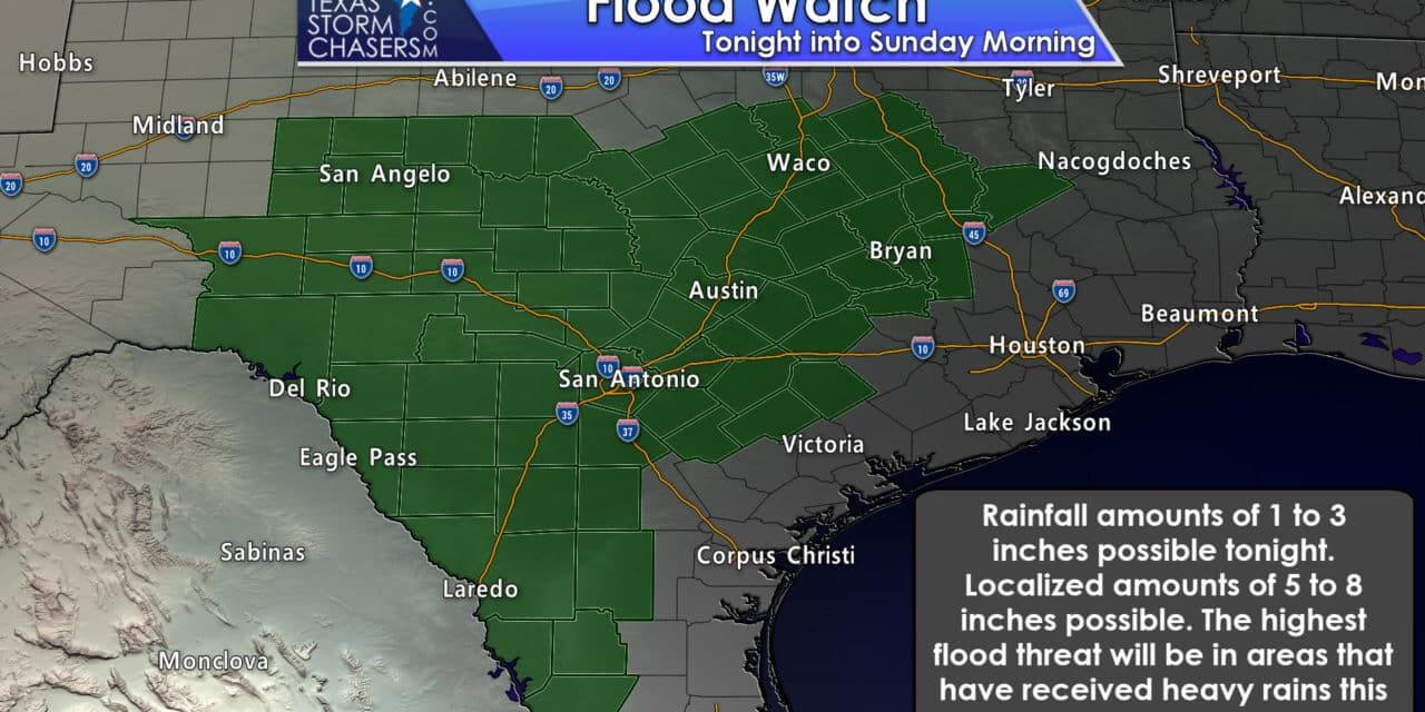 Another Heavy Rain/Flood Threat Expected Tonight in Central/South Texas