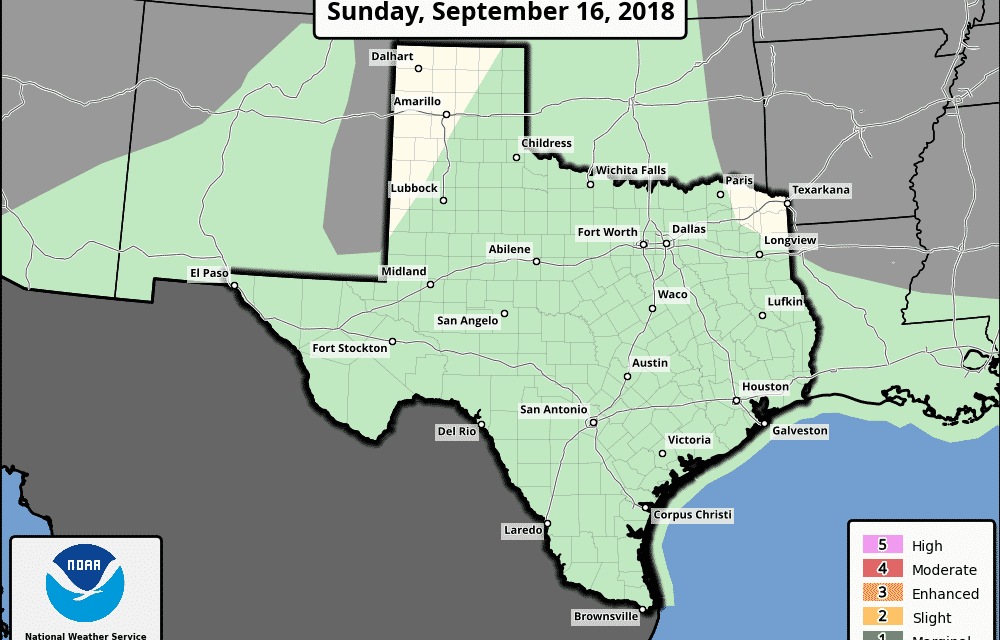 Flash Flood Threats Continue Today for South/Southwest Texas – Warm and Humid with Pop Up Showers For The Week Ahead