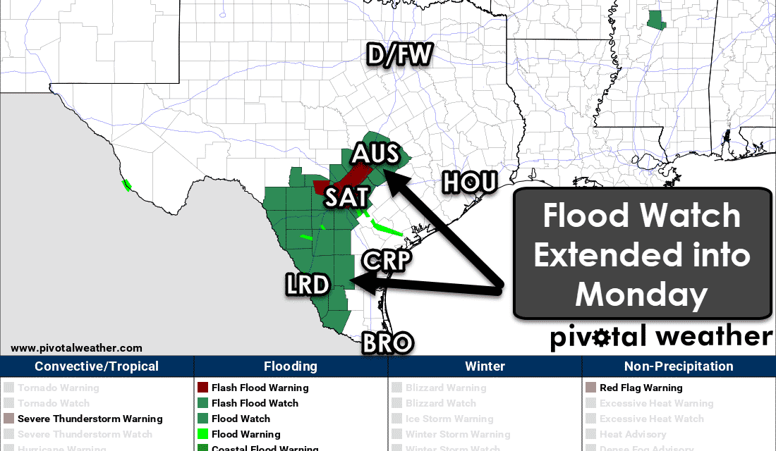 Déjà vu: Another Round of Heavy Rain & Localized Flooding Tonight in South Texas