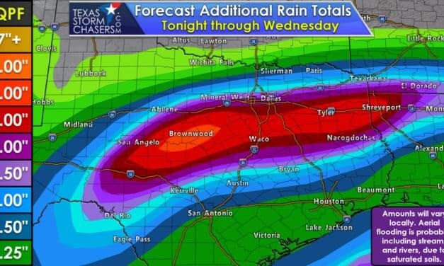 Heavier rains will continue into Tuesday with flooding probable – including rivers/lakes