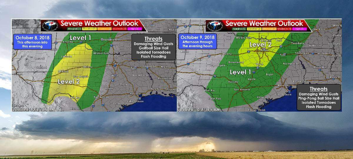 Severe Storms & Flooding Again Today in West; Expanding East on Tuesday