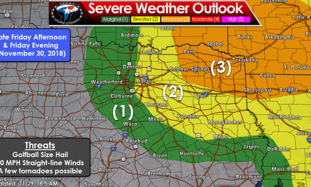 Enhanced Risk (Level 3) for Severe Storms Friday Evening