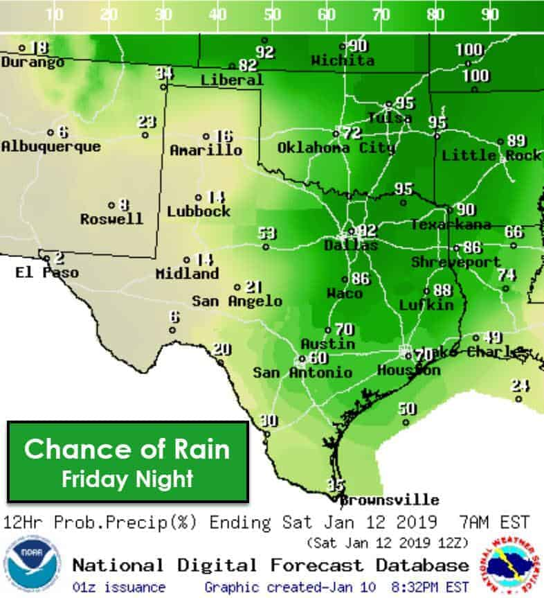 Chilly Winter Rains for Friday • Texas Storm Chasers