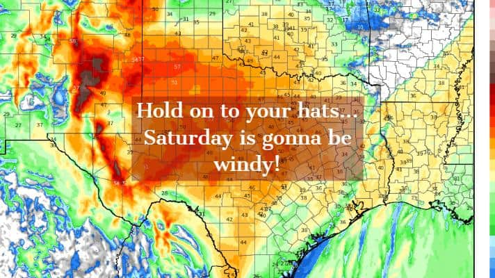 Brief round of storms Saturday morning; Very Windy & Dry Saturday Afternoon