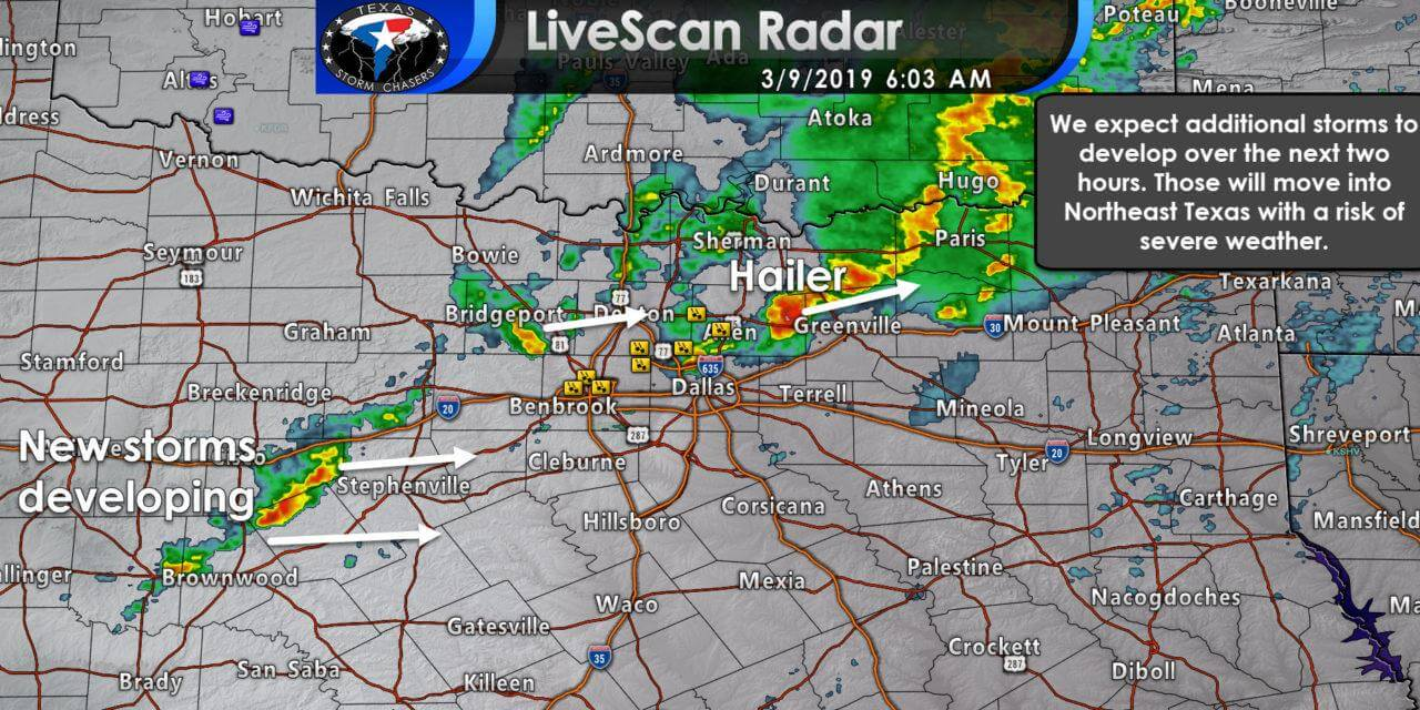 6 AM Severe Weather Update; Increasing threat for Northeast Texas