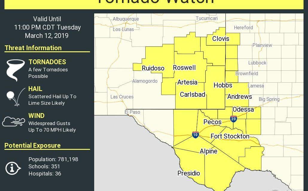 First severe weather watch of the day! We'll see several more tonight…