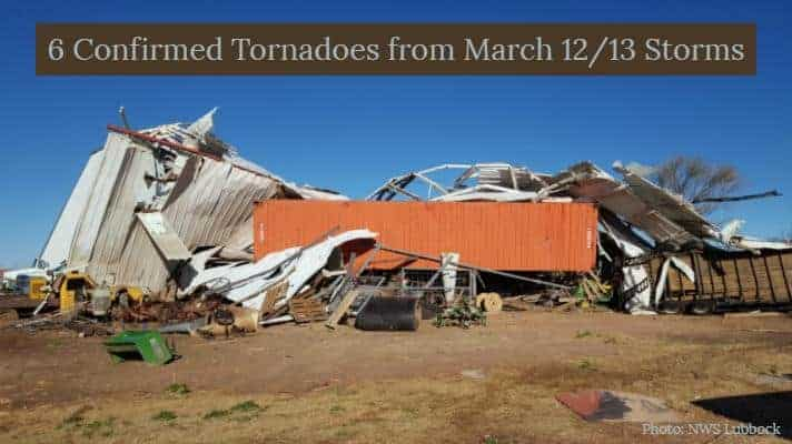 UPDATE: Six tornadoes confirmed from Tuesday Night & Wednesday Morning Storms
