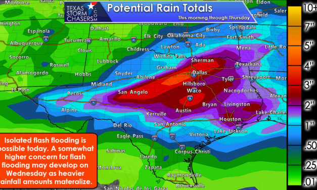 Gully washer tonight and on Wednesday with localized flooding and strong storms possible