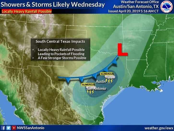 Tranquil Easter Weekend Ahead – Widespread Rain Chances Return Mid-Week