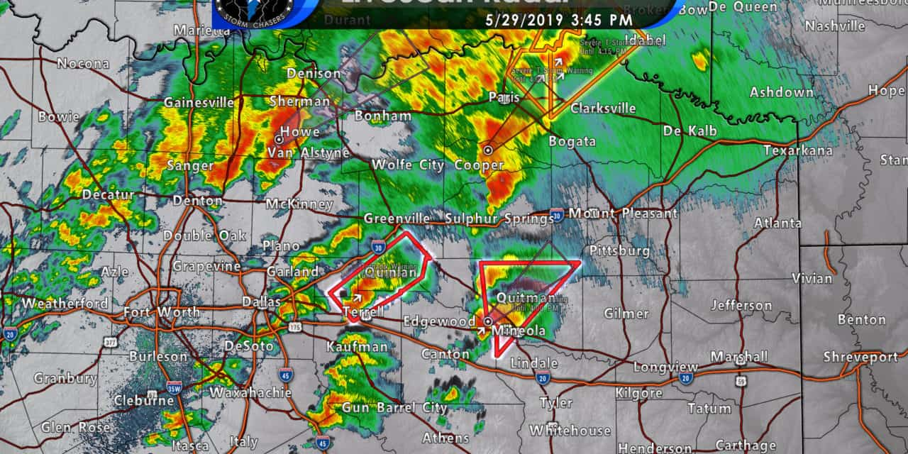 Tornado threat continues just east of the D/FW Metroplex into Northeast Texas