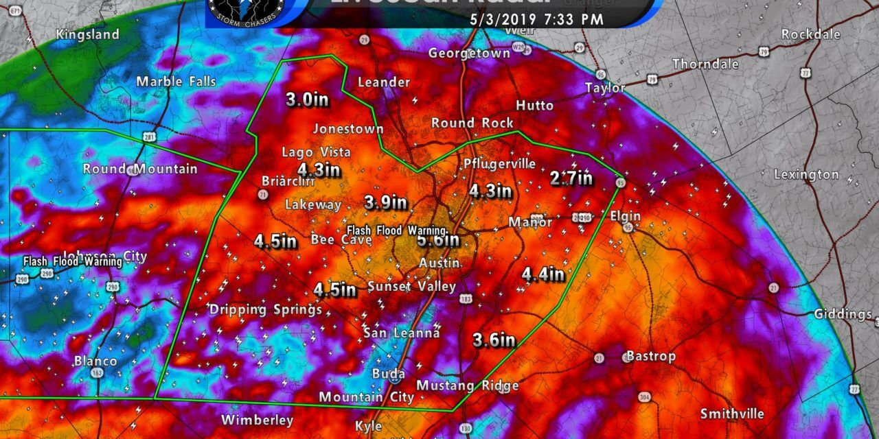 Significant flooding ongoing in Travis.Hays Counties (including Austin)