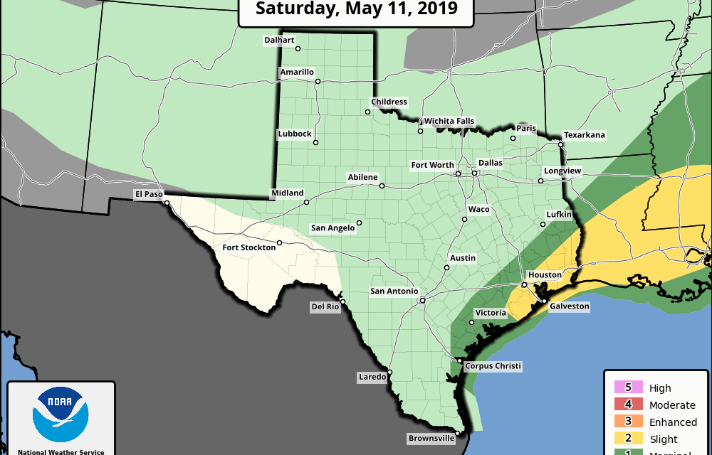 Saturday May 11th – Severe Weather & Rainfall Update