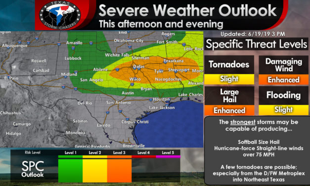 Intense severe storms will develop in the coming hours in North Texas & Northeast Texas