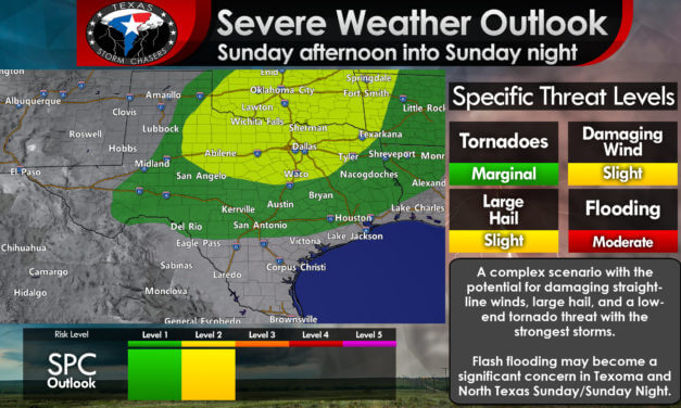 Isolated severe storm possible Saturday; Dual Severe Weather & Flash Flood threats on Sunday/Sunday Night