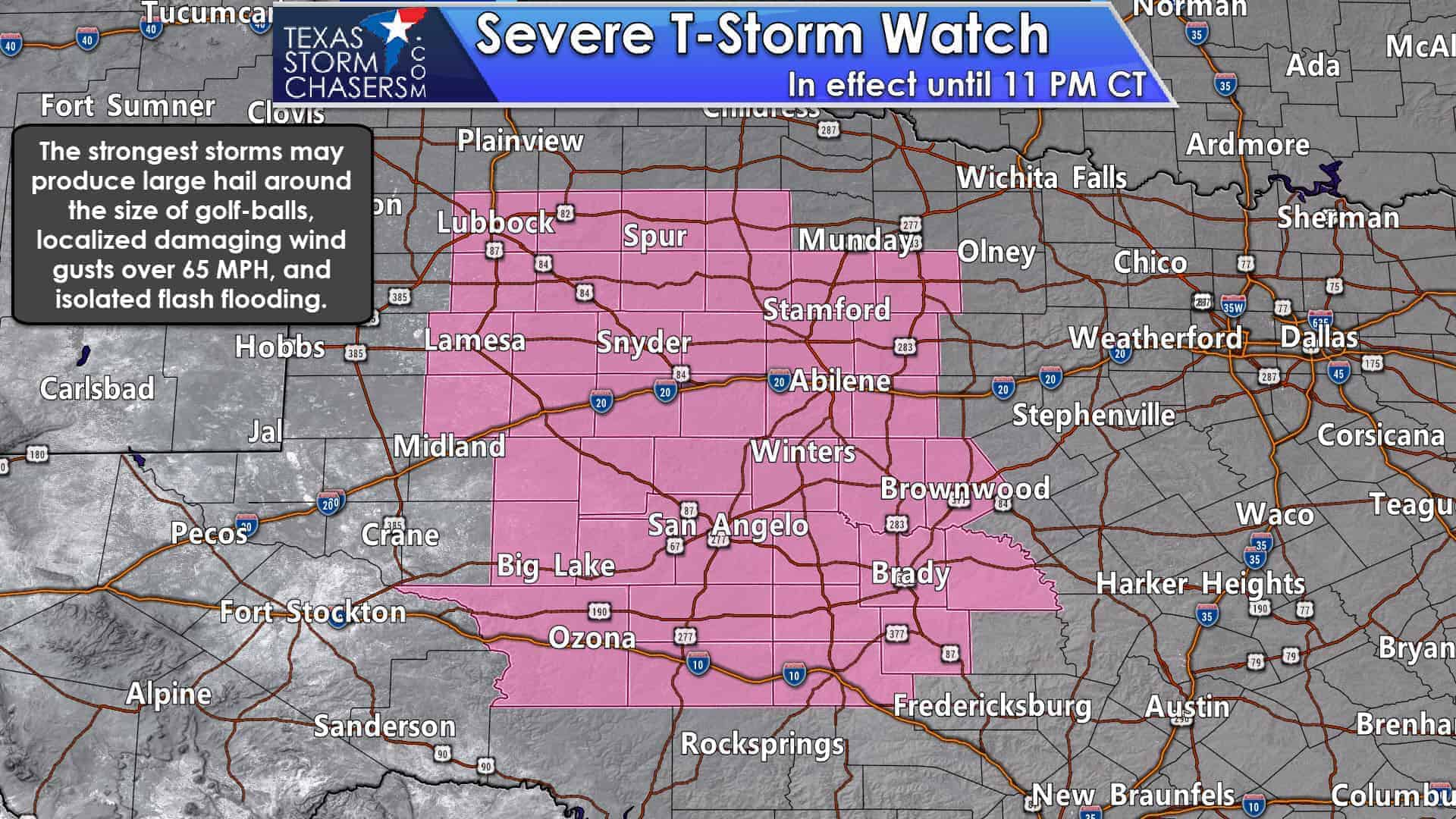 Severe Storms Developing In West Texas Big Country