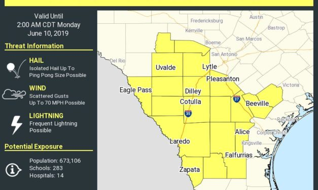 Severe Thunderstorm Watch Issued for South Texas & Edwards Plateau